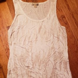 Tops - White and gold tank top